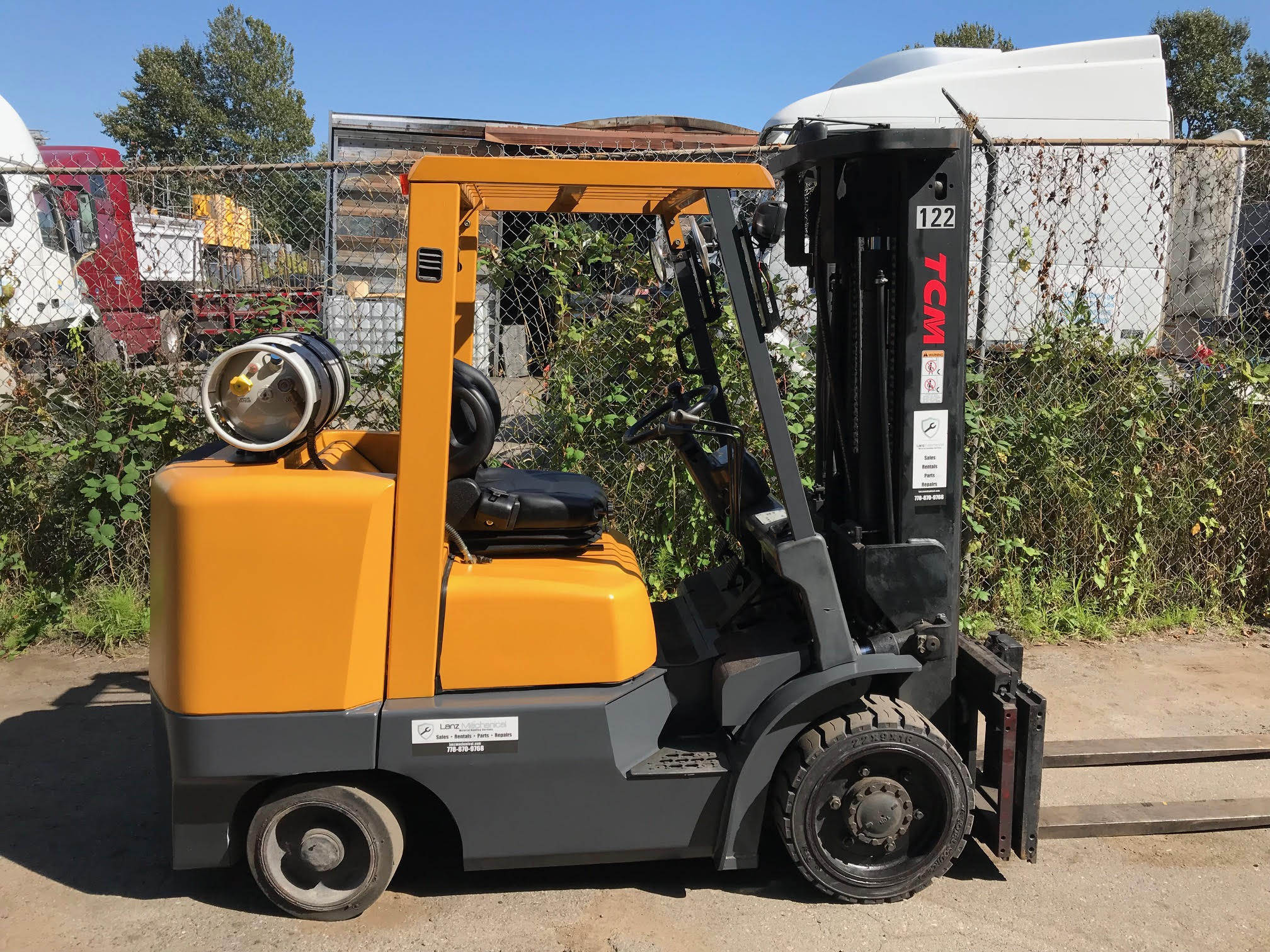 TCM LPG FORKLIFT FOR SALE (6,800 LBS Capacity)